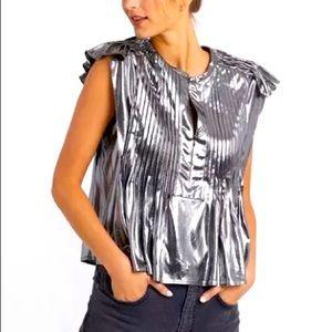 New Rebecca Minkoff Metallic Top, M